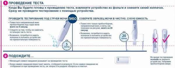 Обязательно прочитайте инструкцию к тесту на беременность.