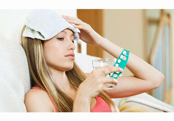 Сильная головная боль и температура