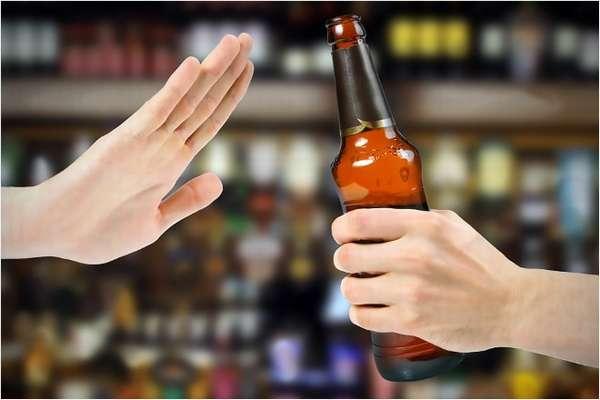 Жест отказа от алкоголя
