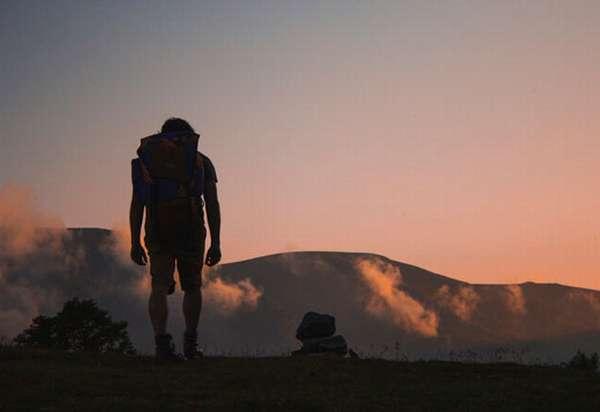Человек в горах