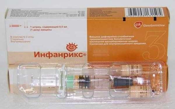 Вот так выглядит вакцина Инфанрикс бельгийского производства.