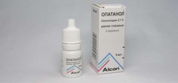 При аллергии можно закапывать глаза Опатанолом.