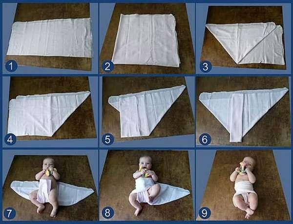 Все о том как пеленать новорожденного