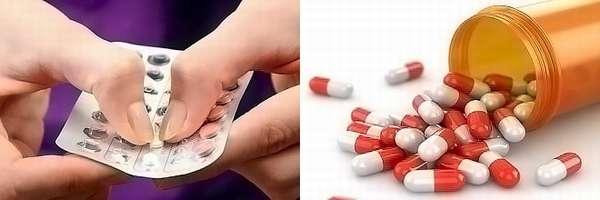 Антибиотики против развития инфекции в теле женщины