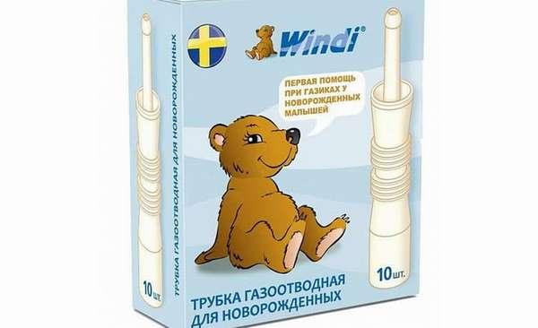 Обзор шведской газоотводной трубки windi для новорожденных