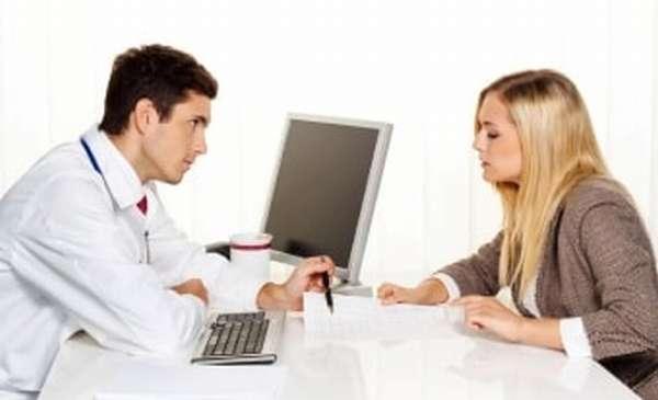Обследование у врача при кистозных образованиях