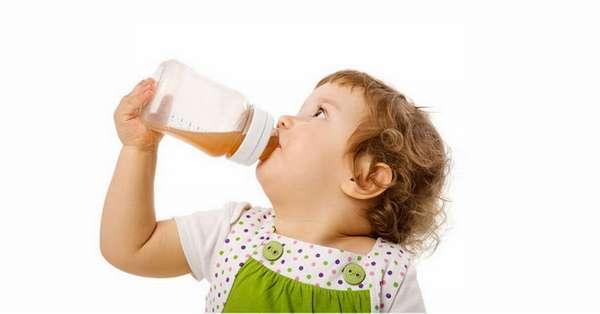 Место напитков в ежедневном меню малыша